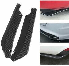2pc Car Auto Carbon Fiber Rear Bumper Lip Diffuser Splitter Canard Protector Top