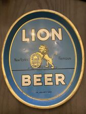 Rare Large Oval Lion Beer Tray