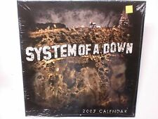 Vintage 2003 System of a Down 12 Month Wall Calendar lots of photos