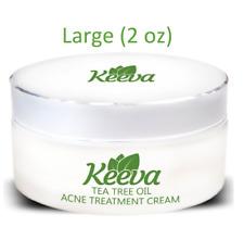 (2 oz) Large Size Keeva Organics Tea Tree Oil for Acne Treatment 1 Step Formula