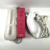 Pink Nintendo Wii Remote w/ Motion Plus Inside + Nunchuck - Official - OEM