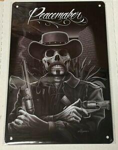 "Peacemaker 8"" x 12"" Metal Sign ~ David Gonzales Art ~Cowboy"