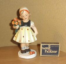BLUMENMÄDCHEN Crottendorf Goebel 30/40er Jahre german pottery figurines vintage