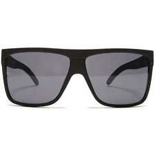 "NEW QUAY AUSTRALIA Matte Black ""BARNUN"" Retro Square Unisex Sunglasses -SALE"