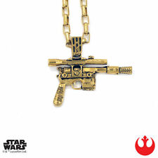 "Han Cholo STAR WARS Gold HC Blaster Pendant Shadow Series Necklace 30"" NEW"