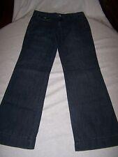"BANANA REPUBLIC Blue Denim Wide Leg Trouser Jeans Inseam 32"" Size 6"