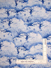 Christmas Forest Tree Blue Ice Cotton Fabric Timeless Treasures CM3453 - Yard