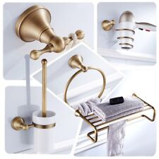 Antique Brass Bathroom Accessories Set Wall Mounted Bathroom Hardware Towel Rack