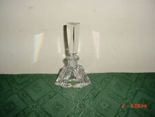 "BOHEMIA LEAD CRYSTAL CZECH 5"" PERFUME BOTTLE W/STOPPER/GOLD LABEL/NEW/FREE SHIP!"
