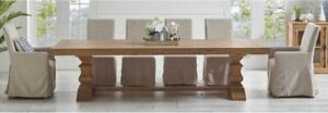 French Provincial Dining Table Hamptons Pedestal Wooden Solid Pine Wood