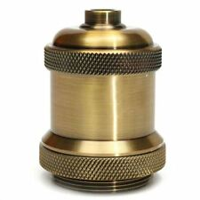 Vintage Screw Brass colour Light Socket Keyless Lamp Holder Knob for E27 Bulbs