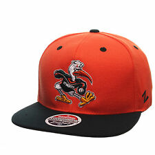 Miami Hurricanes Zephyr Z11 Snapback Hat - NCAA Adjustable Flat Brim Cap