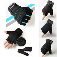 Weight lifting Gym Half Finger Sport Gloves Training Fitness Wrist Wrap Exercise