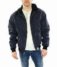 Men's Carhartt Chore Jacket Lined In Navy Blue  Size Large