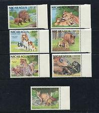 G244  Nicaragua 1988   fauna animals dogs lions  7v. MNH