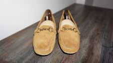 J Crew Italy Unisex Brown Suede Leather Size 11 Driving Moccasin Flat Slip On