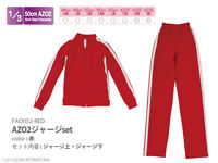 Azone AZO2 Outfits Jersey Set Red fit Obitsu 48/50cm body