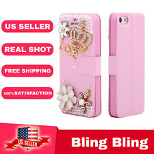 Luxury Flip Bling fashion Case  Cover Diamond crystal For iPhone 5/5s
