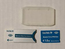 1GB Memory Stick Pro Duo MagicGate Blue Card and SanDisk Adapter