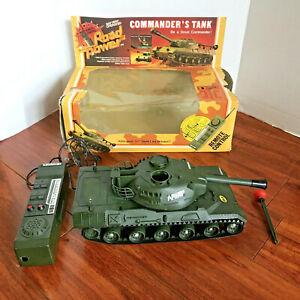 RARE 1982 ECHO COMMANDER'S TANK Wire Remote Control Road Power 6336w READ INFO!