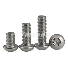 #10-24UNC A2 Stainless Steel Button Head Hex Socket Screws