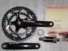 Road crankset alu 9/10V Noir Compact 50/34 172.5mm & bottom bracket 111 mm