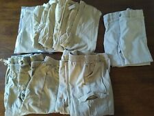 LOT 11 Girls Boys Unisex Khaki Uniform Pants Shorts 4t Okie Dokie + New Used
