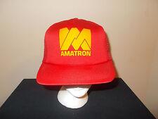 VTG-1980s Amatron lighting bulbs lamps tubes dealer retro trucker foam mesh hat