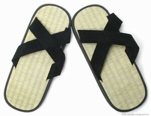 Zori X-Style Slip On Japanese Straw Sandals Mens Womens Kids