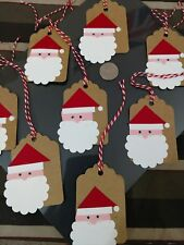 Crafted Sants Gift Tags Christmas New Lot of 8! Free Ship!