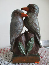 Vintage Australiana Plaster? Kookaburras On the Tree Figurine Ornament #3