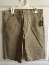 Nwt Old Navy Boys School Uniform Khaki Shorts Size 14 New Beige Brown