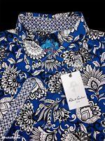 Robert Graham Vibrant Floral Short Sleeve Shirt Size Large - $198 NWT
