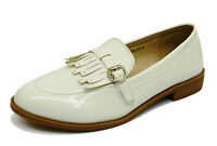 LADIES WHITE SLIP-ON LOAFERS MOCCASIN CASUAL SMART WORK COMFY FLAT SHOES UK 3-8
