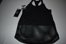 UNDER ARMOUR TANK TOP BLACK GIRLS MED NWT