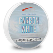 FILO MONOFILO DA PESCA TUBERTINI CARBON WHITE  50 mt. 0.14 mm