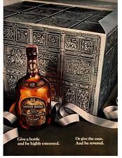 1976 Chivas Regal Blended Scotch Whisky Highly Esteemed Revered Case Print Ad