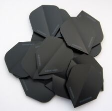 Harrows Marathon Extra Strong Dart Flights - Matt Black Slim Shape