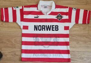 Wigan Warriors 1995-96 Puma Rugby Home Shirt - Size Medium - Norweb