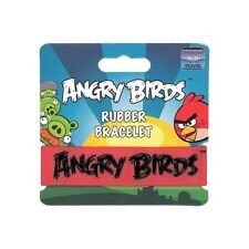 Angry Birds Rubber Bracelet - Red With Black Letters