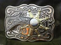 "Western Cowboy ""Spinning Spur"" Metal Belt Buckle (Rectangular)"
