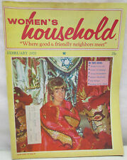 Women's Household Magazine February 1970 Patterns Glass Etching Barbie Outfits