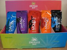 Emerald Bay Sunbed Tanning Lotion Cream Sachets Display for Tan Salons + sachets