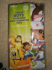 Nickelodeon Toddler Boy's Multi-Character Briefs - 7 Pair-7 Designs NEW