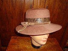 Vintage Glenover Henry Pollack 100% Wool Hat Camel