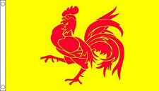 WALLONIA FLAG 5' x 3' Belgium Belgian Walloon Coq Rooster Wallonien Region