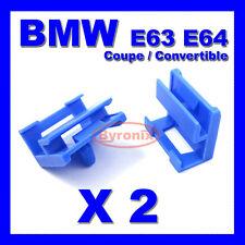 BMW SERIE 6 E63 E64 Coupe Cabrio Lato Davanzale Gon na Trim Clip in Plastica Blu