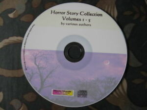 Horror Story Audiobook Collection vol 1-5 MP3 CD 50 stories 16hrs