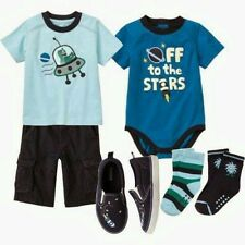 NWT Gymboree SPACE VOYAGER Outfit 18-24 Months Top,Bodyuit,Shoes,Shorts,Socks