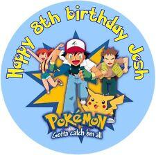 "Pokemon Edible 7.5"" Round personalised icing sheet cake topper"